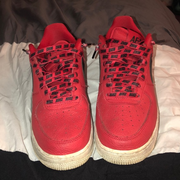 Nike Shoes | Nike Air Force Red Low